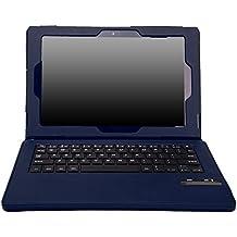 MoKo Sony Xperia Z2 Keyboard Funda - Teclado Inalánbrico Wireless Bluetooth Keyboard Cover Case QWERTY para Sony Xperia Z2 10.1 inch Tablet, INDIGO (Will Not Fit For SONY Xperia Z Tablet)