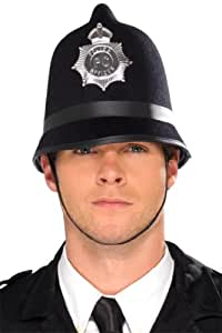 Smiffy's Police Hat Felt with Badge - Black