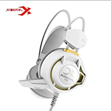 Xiberia V3 Headphones With Mic & LED For PC, PS4, Xbox One, Laptop, PC, IPhone And Android Phones (White)
