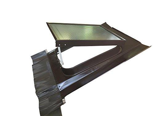 Lucernario Vetro Retinato Sicurezza 45x60 Acciaio Testa di moro Modello per Sottotetto non abitato Adatto per tutti i tipi di coperture