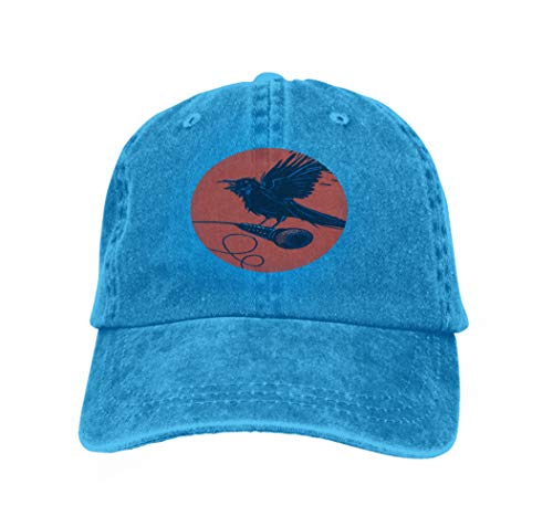 Girl Kostüm Raven - Hip Hop Baseball Cap Hat for Boys Girls Bird Microphone Raven Holding Rock Posters Variegated