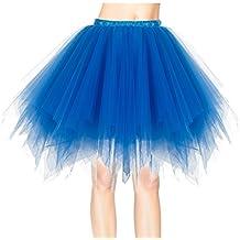 Dresstells®Mujeres Fladas Enaguas Cortas Tul Plisada Fiesta Vintage Retro Ballet