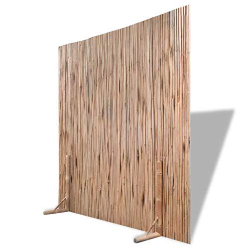 Festnight Divisor de Espacios Panel de Valla Bambú en Interiores y Al