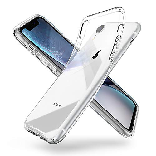 Spigen Liquid Crystal Kompatibel mit iPhone XR Hülle, 064CS24866 Transparent TPU Silikon Handyhülle Durchsichtige Schutzhülle Case (Crystal Clear) Silikon-schutzhülle