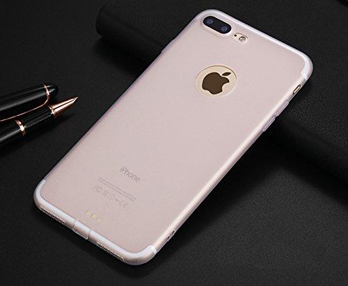 """Custodia in Silicone per iPhone 7, Fukalu Cassa del Respingente del Silicone Sottile Custodia Cover per iPhone 7(4.7"""") (Rosso) Bianco"""