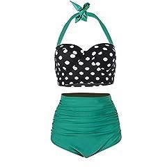 42f4497a9e60c Plus size high waisted bikini uk - Swimwear. Yooeen Women Vintage Swimsuits  High Waisted Retro Polka Dot Bikini Set ...