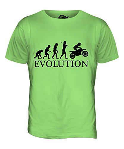 CandyMix Motocross Evolution Des Menschen Herren T Shirt Limettengrün