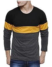 Urbano Fashion Men's Striped Slim Fit T-Shirt