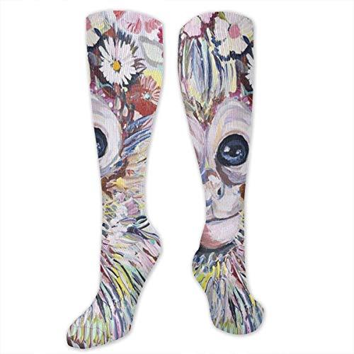 RIPO Socken für Damen, Herren, Mädchen, bunte Tier-Affen-Socken - steigern die Durchblutung (Socke Affe Kostüm Kind)