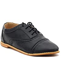 Shuberry Latest Footwear Collection, Comfortable & Fashionable Fabric, Black Colour Faux Leather Casual Shoes for Women's & Girl's (SB-270)