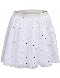 ShopperTree White Polyester Dot Printed Skirt for Girls for Baby Girl's