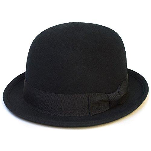 Chapeau melon vintage classique Noir