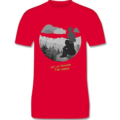 Statement Shirts - Backpacker - Herren Premium T-Shirt Rot