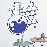 zhuziji Chemie-Becher-Plakat-Abziehbilder Wissenschafts-Abziehbild-Aufkleber-Wand-Vinylkunst-Ausgangsraum-Dekor-Lehrer-Klassenzimmer-lustiges Atom-Muster 888-3 S 46cm x 42cm