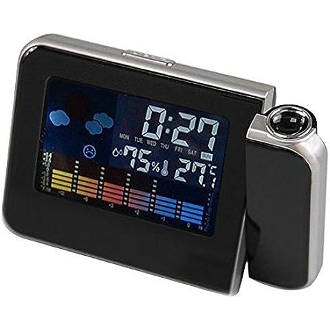 BOBORA Digital LED LCD Tiempo Max/Min Display Temperatura LED Humedad Proyecto Reloj Higrometro