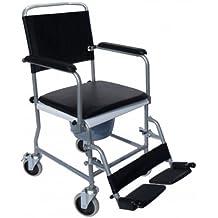 Trend móvil de WC silla TSF fahrbarer silla con HMV Número 18.46.02.0059Incluye placa de asiento acolchado y cubo Soporta hasta 120kg
