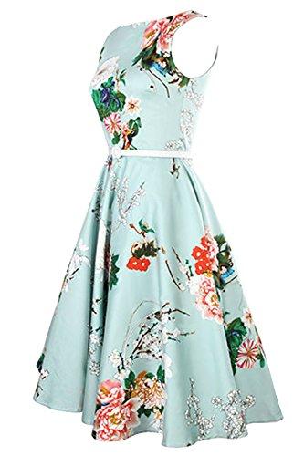 Babyonline® Damen Vintage Kleider, geblühmt Als Bild Zeigen