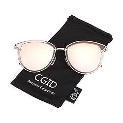 CGID MJ85 Retro Polarisierte Sonnenbrille Doppelte Kreis Spiegel UV400 Objektiv Metall Rahmen