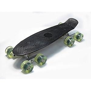 (2er-Set) Schwarzer Tandemachs-Radsatz für Skateboard Cruiser Longboard Penny Truck