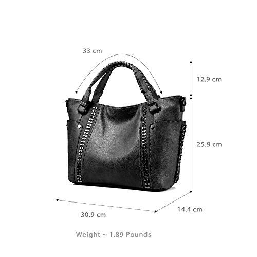 3f5c65bfdd2cb Handtaschen Damen Leder Henkeltasche Taschen Groß Tote Tasche Designer  Taschen Grau Schwarz ...