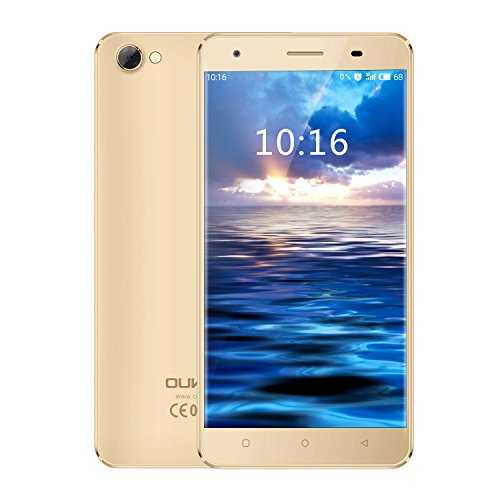 OUKITEL C5 Android 7.0 Smartphone stoßfest 5 Zoll HD Display ohne Vertrag (2GB RAM+16GB ROM, Quad-Core CPU)gold