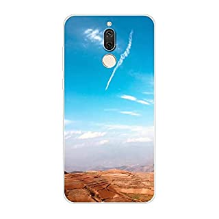 Aksuo for Huawei Mate 10 Lite Slim Shockproof Case, Exquisite Pattern Design Clear Bumper TPU Soft Flexible Rubber Silicone Skin Back Cover - Q-Huawei Mate 10 Lite-59