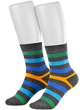 Piarini 2 Paar Kinder Frottee Socken mit ABS in verschiedenen Farben für Jungen und Mädchen