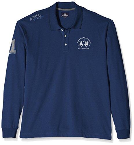 La Martina Man S Heavy Jersey, Polo Uomo, Blau (Medieval Blue 07057), XX-Large