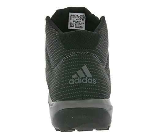 Adidas Daroga Plus Mid Lea-Stivali da montagna, uomo Negro (Negbas / Granit / Nocmét)