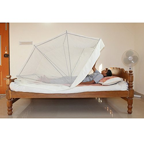 Comfort MosquitoNet Cream Color for Queen /Double Size Bed (5ftX6.5ft/60inchX78inch)