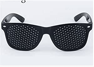 TO_GOO Lunettes à Trou d'épingle à Lunettes Black Hole soulagent l'astigmatisme de la Correction de la Fatigue oculaire 1pcs