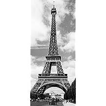 W&G 524 - Póster (86 x 200 cm), diseño de la torre Eiffel, color en blanco y negro