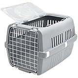 Savic Zephos 2 Open Pet Carrier, Grey