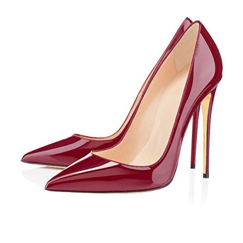 Zapatos De Mujer De Ubeauty - Zapatos De Tacón - Zapatos De Tacón Clásico De Vino Tinto