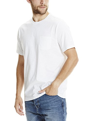 Bench Herren T-Shirt Tee with Pocket Weiß (White WH001)