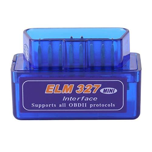 System-diagnose-gerät (Tellaboull Mini tragbare ELM327 V2.1 OBD2 II Bluetooth-Diagnose-Auto-Auto-Interface Scanner blau Premium ABS-Diagnosewerkzeug)