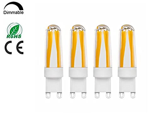 G9 LED Light Bulbs,NetBoat 4 Packs 30W Halogen Bulbs Equivalent,4W