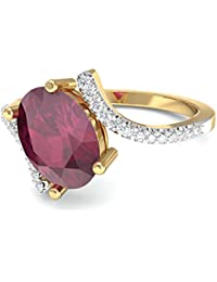 PC Jeweller The Izora 18KT Yellow Gold, Diamond & Gemstone Rings