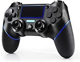 JAMSWALL Mando Inalambrico para PS4, Mando inalámbrico para PlayStation 4 / Pro / Slim / PC, Controlador de panel táctil...