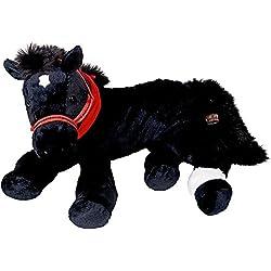 Caballo Negro de Peluche FILOU XL. Muñeco Cojin. de Spiegelburg (aprox. 45cm)