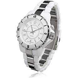 OHSEN YI-FG0736-2 Analog Women Quartz Watch LED Display Digital White