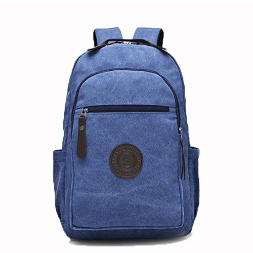 Multi-funzione di borsa da viaggio, tela di cotone, sport all'aria aperta, viaggi di piacere, zaino ad alta capacità, zaino alta 43 centimetri, larghezza 30cm, 12 centimetri di spessore , khaki treasure blue