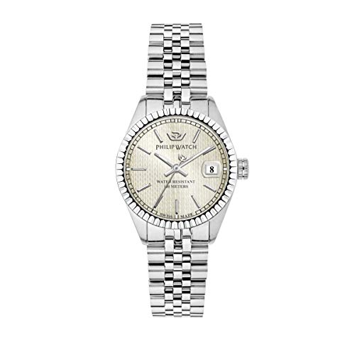 Philip Watch Women's Watch, Caribe Collection, Quartz Movement and Three Hands Version with Date, Equipped with a Stainless Steel Bracelet - R8253597539