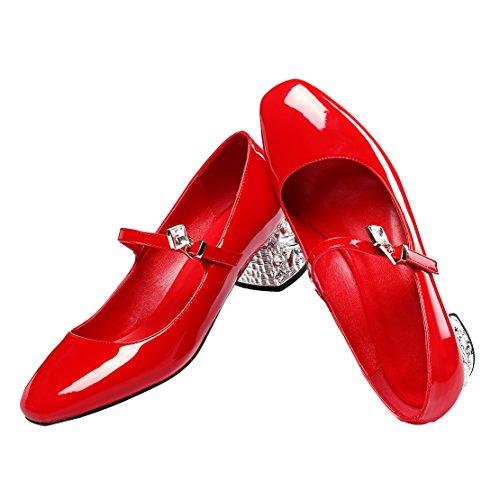 AIYOUMEI AIYOUMEI femme Coupe fermées femme fermées Rouge Rouge Coupe AIYOUMEI Coupe Fx6TFaqnBw