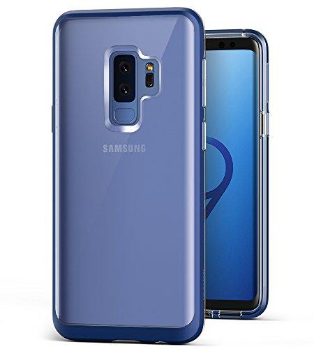 VRS Design Samsung Galaxy S9 Plus Hülle, Transparent Handyhülle [Klar+Deepsea Blau] Silikon TPU Bumper Cover   Dual Layer Protection case   Ultra dünne Hüllen [Crystal Bumper] für Samsung S9 Plus (Design Galaxy)