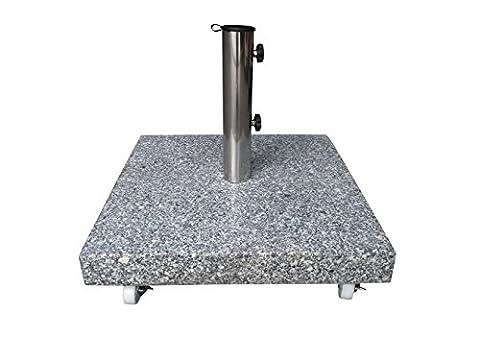 40 kg Granit Schirmständer mit XXL Rollen einzeln