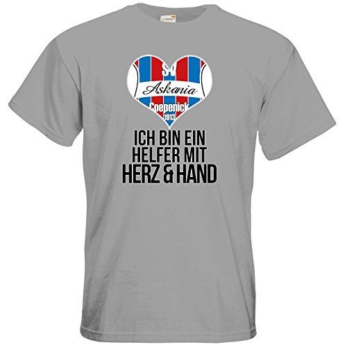 getshirts - Kleiderbox Coepenicker Sportverein - T-Shirt - Askania Helfer mit Herz pacific grey