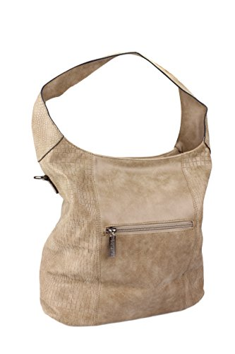 Damen Handtasche / Umhängetasche / Beuteltasche in vielen Farben Taupe