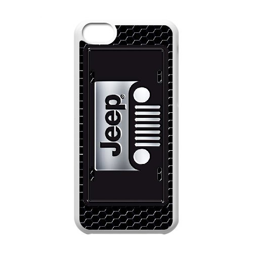 iPhone 5C white Phone Case Top Design Jeep Wrangler Logo JP300016