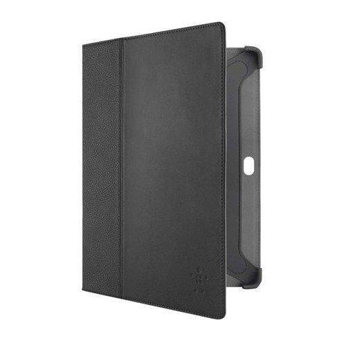 Belkin Echte Leder Schutzhülle mit Standfunktion für Samsung Galaxy Tab 2 25,6 cm (10,1 Zoll) schwarz - Belkin Galaxy Tab